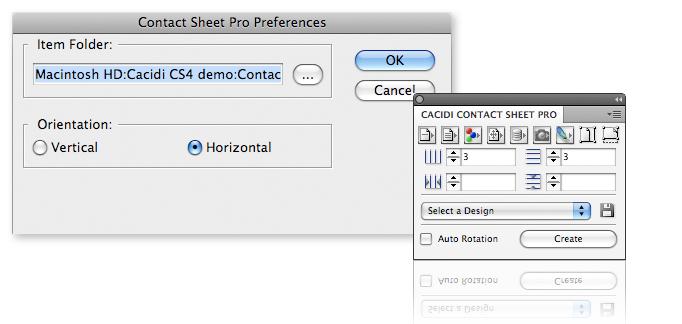 Cacidi Contact Sheet Pro screenshot