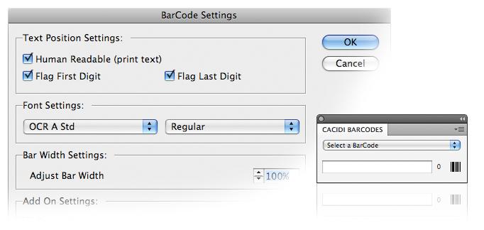 Cacidi BarCodes full screenshot
